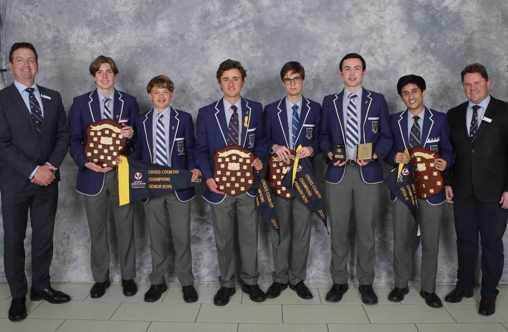 Sports Association Adelaide Schools Award Winners with Headmaster Tim Browning and Director of Sport and HPE Barnaby Eaton