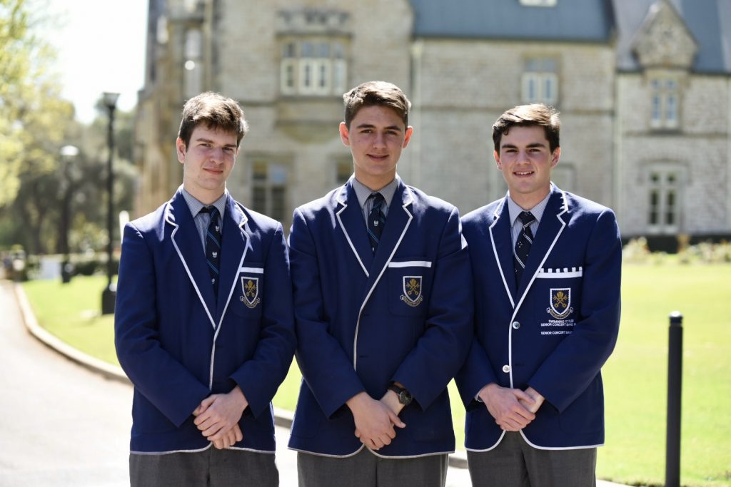 Geography Prize Winners: Guy Strong (Year 12), Campbell Craig (Year 11) and Josh Watson (Year 12)