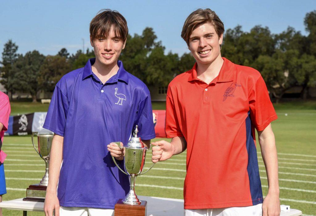 Open Age Champions Adam Goddard (Year 12) Joshua White (Year 11)