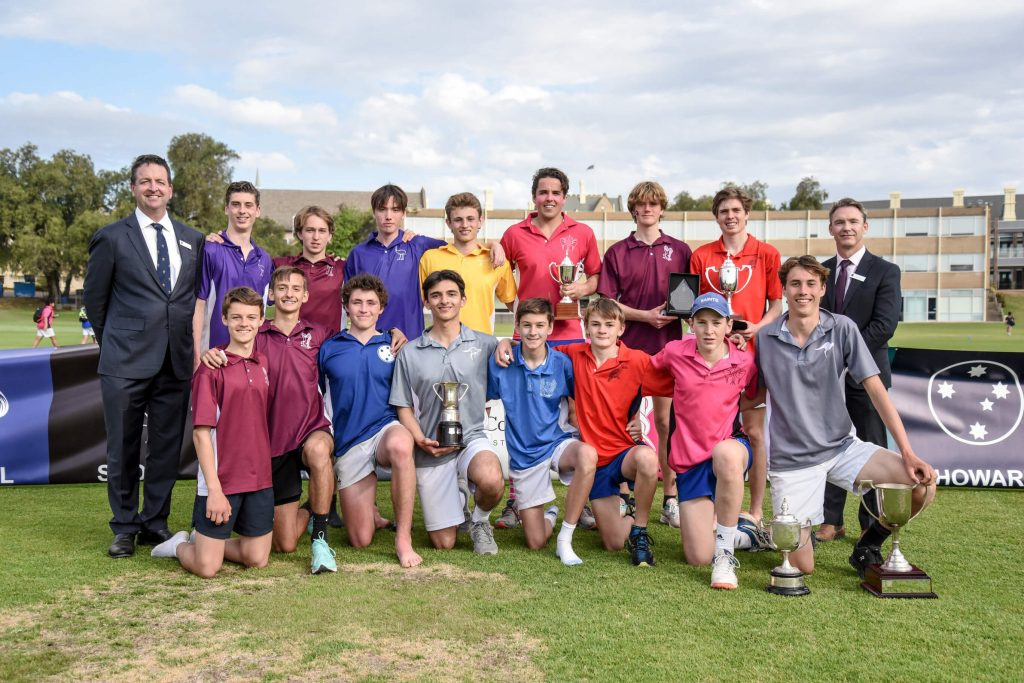 Age Champions with the Headmaster and Deputy Headmaster