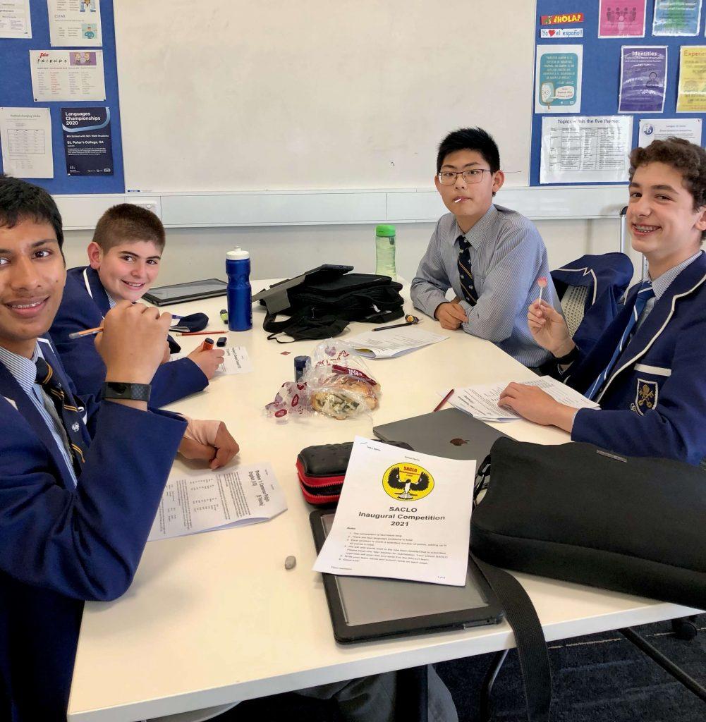 Hatswell Hype team: Ethan Chen (Year 7), Alex Piscioneri (Year 8), Damon Tatarelli (Year 8) and Maulik Singhal (Year 9)
