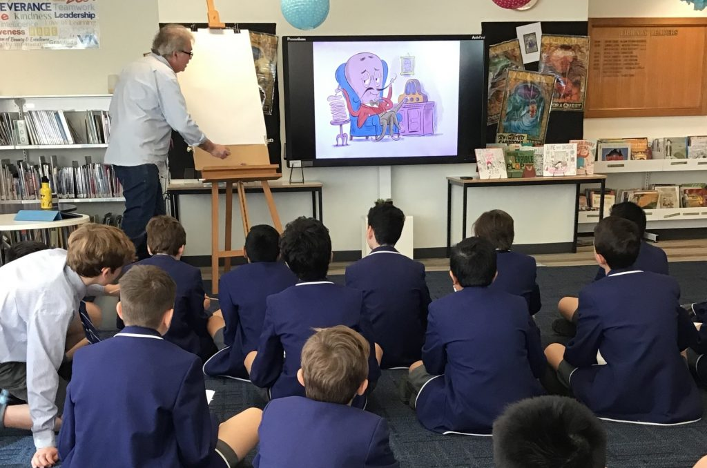 Andrew Joyner working with Year 6 classes