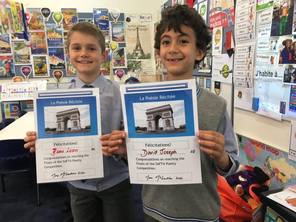 Years 1 to 3 French Poetry Finalists 2021