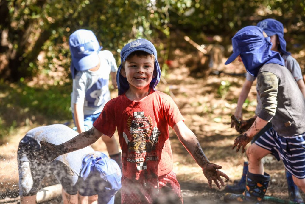 ELC and Reception students at Mud Day